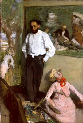 The artist in the studio - Edgar Degas