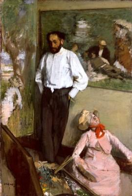 The artist in the studio - Edgar Degas