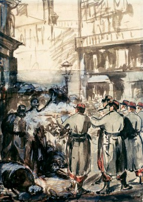 The Barricades - Édouard Manet