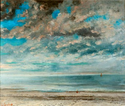 The beach at sunset - Gustave Courbet