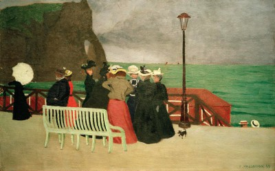 The beach promenade in Etretat - Félix Vallotton