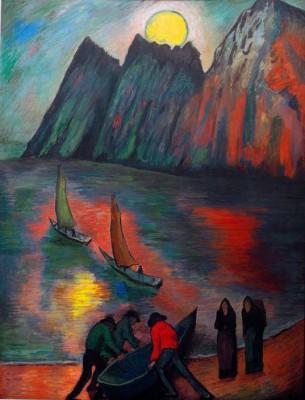 The big moon - Marianne von Werefkin