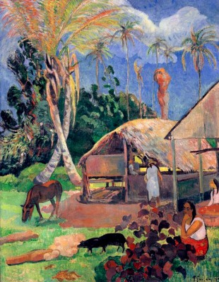 The Black Pigs - Paul Gauguin