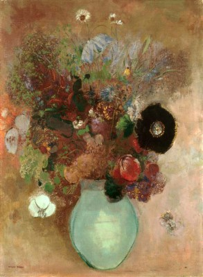 The black poppy flower - Odilon Redon
