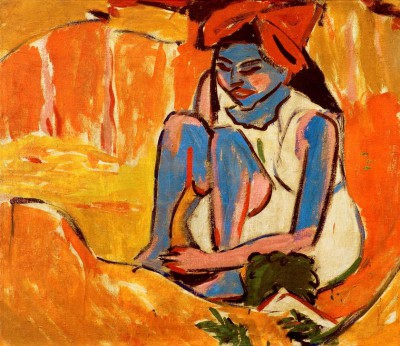 The blue girl in the sun - Ernst Ludwig Kirchner