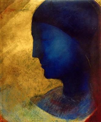 The blue profile - Odilon Redon