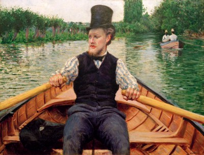 The boat party, or Rower with top hat - Gustave Caillebotte