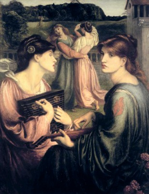 The Bower Meadow - Dante Gabriel Rossetti