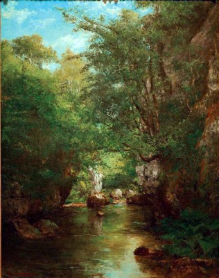 The brook - La Brème - Gustave Courbet