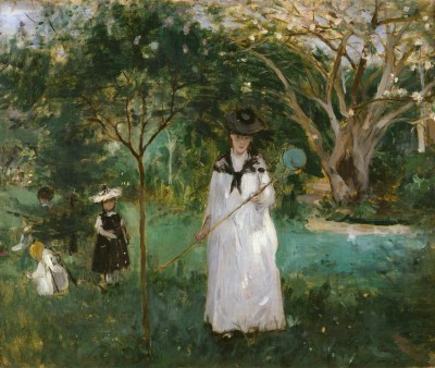 The butterfly hunt - Berthe Morisot