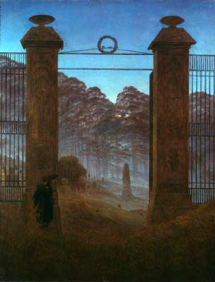 The cemetery - Caspar David Friedrich