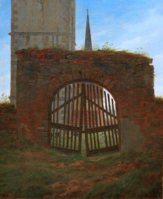 The cemetery gate - Caspar David Friedrich