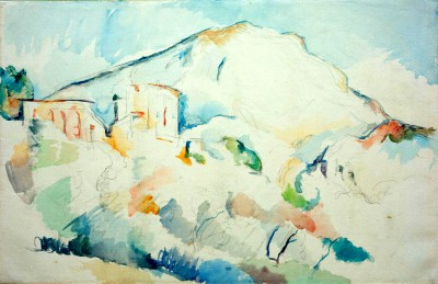 The Château Noir and Sainte-Victoire mountains - Paul Cézanne