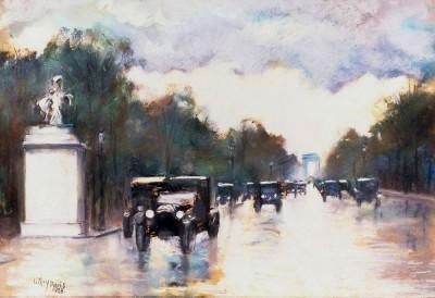 The Champs Elysées - Paris - Lesser Ury