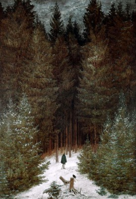 The Chasseur in the Forest - Caspar David Friedrich