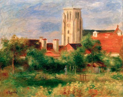 The Church in Essoyes - Pierre Renoir