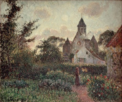 The Church in Knocke (Belgium) - Camille Pissarro