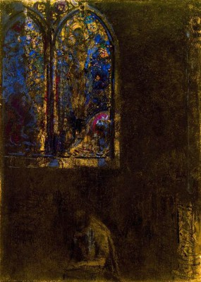 The church window - Odilon Redon