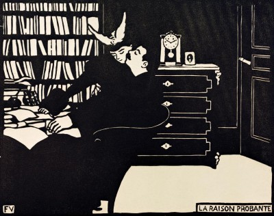 The Cogent Reason - woodcut - Félix Vallotton