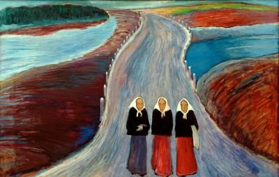 The country road - Marianne von Werefkin