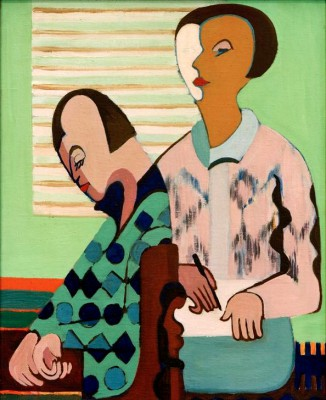The couple. Self-portrait with Erna - Ernst Ludwig Kirchner