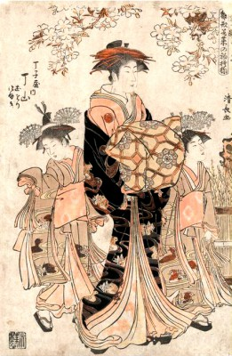The courtesan Chzan of Chjiya - Torii Kiyonaga