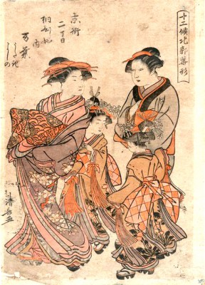 The courtesan Many of the house of Kirihishi - Torii Kiyonaga