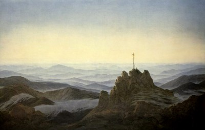 The cross on the rock peak - Caspar David Friedrich