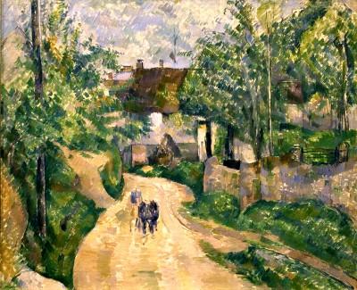 The curving road at Auvers-sur-Oise - Paul Cézanne