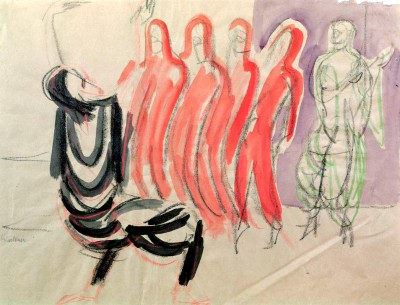 The dance school Mary Wigmans - Ernst Ludwig Kirchner