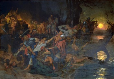 The defeat of the Grand Prince Sviatoslav I of Kiev - Henryk Siemiradzki