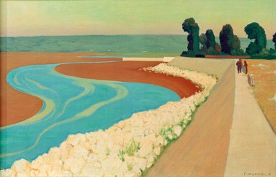 The dike of Honfleur - Félix Vallotton