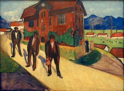 The end of working day - Marianne von Werefkin