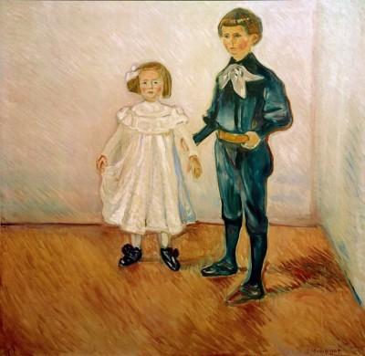 The Esche children - Edvard Munch