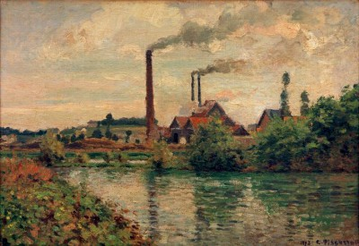 The factory in Pontoise - Camille Pissarro