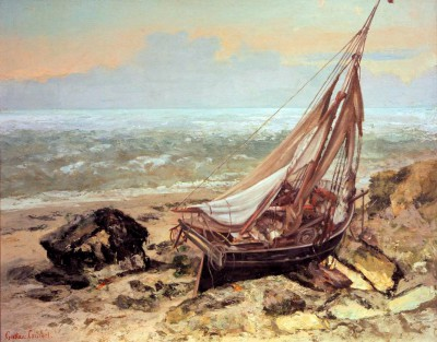 The fishing boat - Gustave Courbet