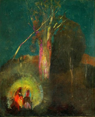 The flight to Egypt - Odilon Redon
