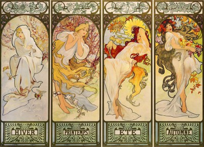The four Seasons - Alfons Mucha