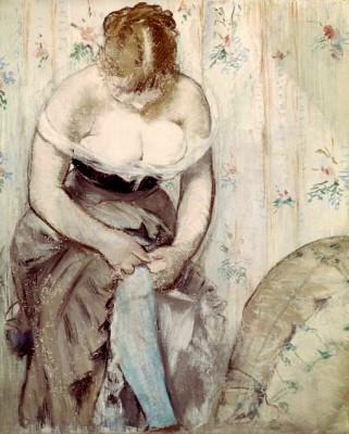 The Garter - Édouard Manet
