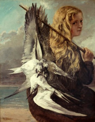The girl with seagulls - Gustave Courbet
