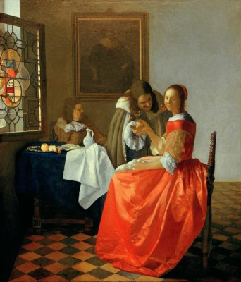 The Girl with the Wine Glass - Jan Vermeer