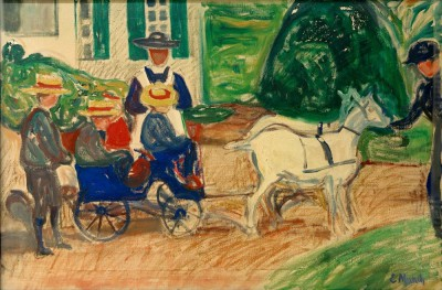 The goat and cart - Edvard Munch