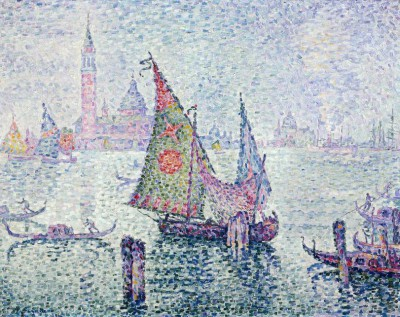 The green sail, Venice - Paul Signac