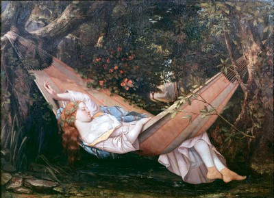 The Hammock - Gustave Courbet