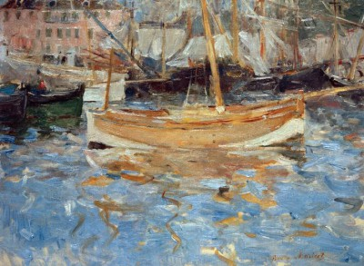 The Harbour at Nice - Berthe Morisot