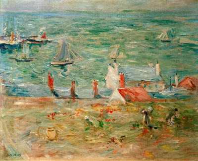 The harbour of Gorey - Berthe Morisot