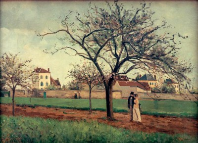 The house of Père Gallien, Pontoise - Camille Pissarro