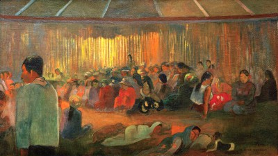 The Hut of Hymns - Paul Gauguin