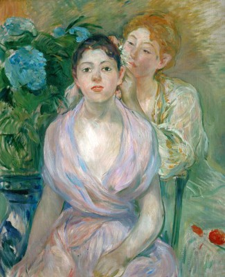 The hydrangea, or the two sisters - Berthe Morisot