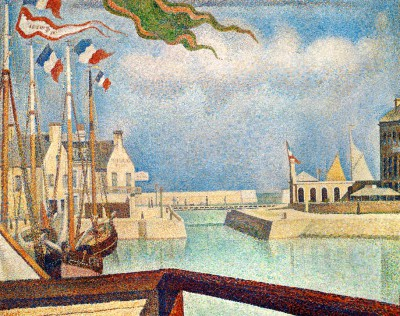 The jetty of Portrieux - Paul Signac